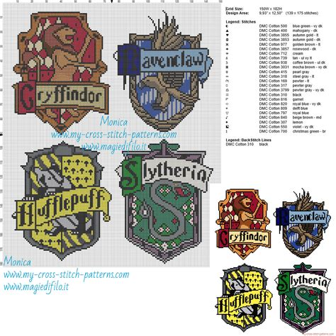 pattern d in xsd hogwarts houses cross stitch pattern cross stitch