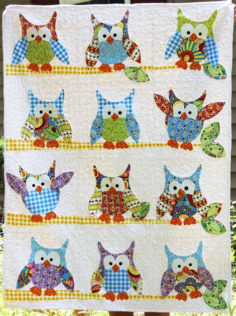 Owl Quilt Kits by Jangles Okey Dokey Owl And Friends Quilt In