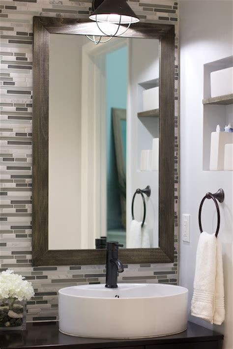bathroom backsplash with mirror decozilla