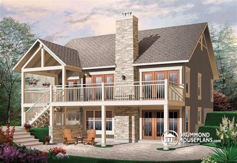 luxury small home plans with walkout basement new home