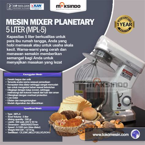 Blender Roti jual mesin mixer roti dan kue model planetary di surabaya
