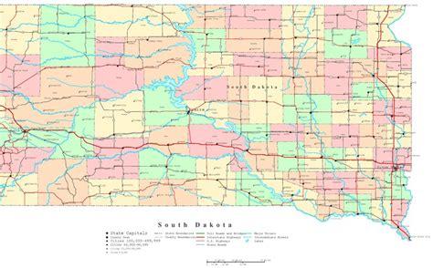 printable road map of north dakota south dakota printable map