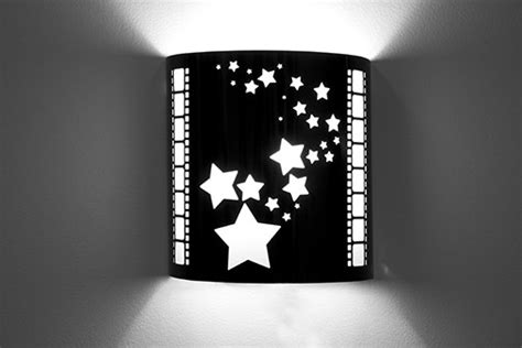 admit  ticket laser cut theater wall sconce