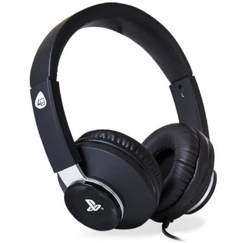 Headset Sony Gaming sony licensed pro4 60 stereo gaming headset black accessories zavvi