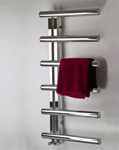 Contemporary Bathroom Showers - stainless steel heated towel rails amp towel warmer