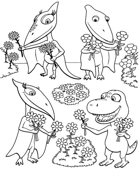 christmas dinosaur coloring page coloring pages from the animated tv series dinosaur train