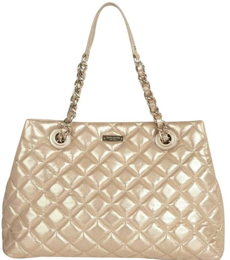 Katespade Ksw1122 White Leather Gold kate spade white leather gold coast maryanne quilted shoulder tote tradesy