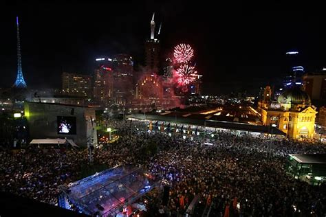new year melbourne fed square fed square to arrival of 2015 with mass