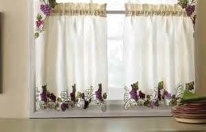 Kitchen Curtains With Grapes Grape Kitchen Window Valance Curtains Grapevine Vineyard Design 3pc Set Ebay