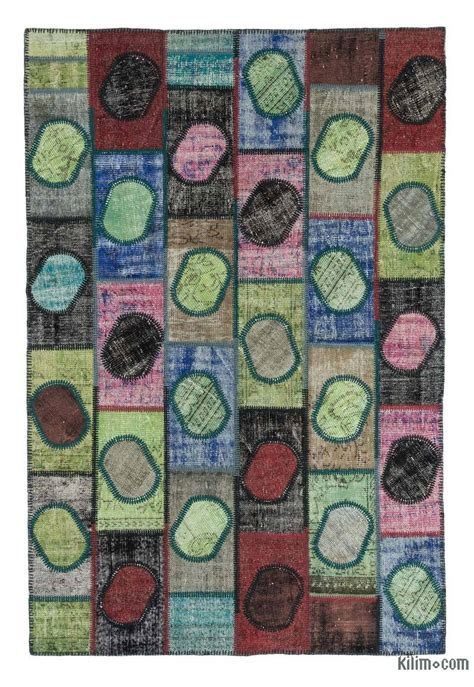 k0020254 multicolor dyed turkish patchwork rug