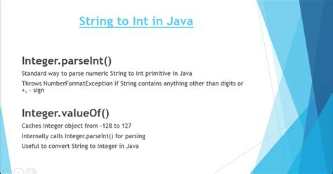 java pattern to convert one object to another 2 ways to parse string to int in java java67