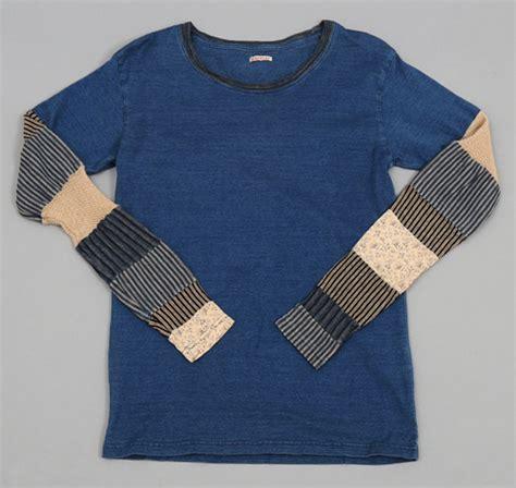 Patchwork T Shirt - patchwork sleeve t shirt indigo hickoree s