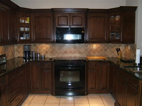 black appliances kitchen kitchen with black appliances rustic brown ceramic floor