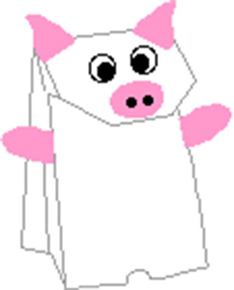 pig puppet template pig crafts kindercrafts enchantedlearningcom