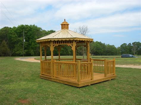 10x10 Deck Gazebo Gazebos With Decks Gwd 04 Yoder Country Gazebos