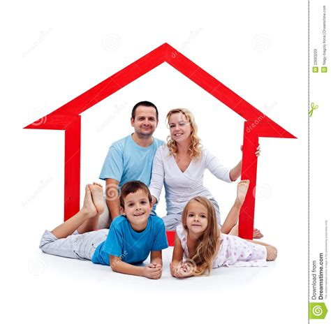 happy home concept stock image image of home house
