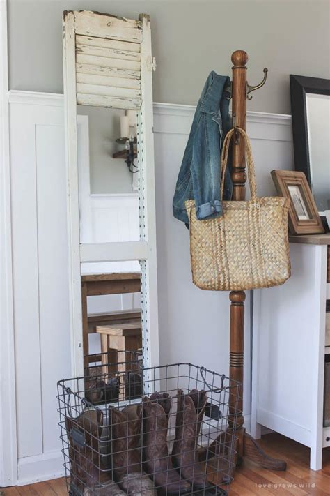 diy farmhouse shutter mirror diyideacentercom