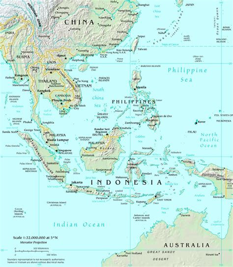 southeast asia map free coloring pages