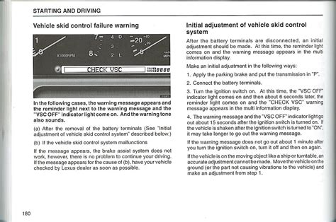 Toyota Check Vsc System Message Vsc Trac And Check Engine Light On Toyota Html