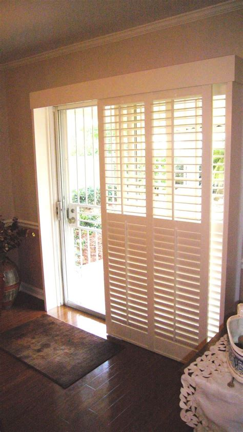 Plantation Shutters For Patio Doors By Pass Shutters With 2 1 2 Quot Louvers For A Patio Door These Are Also Available In 3 1 2 Quot And 4