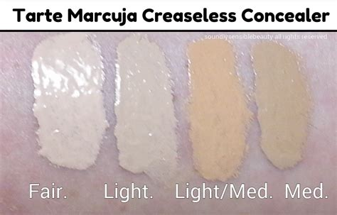 Tarte Maracuja Creaseless Concealer Fairly Light Neutral tarte marcuja creaseless concealer cover concealer review swatches of shades