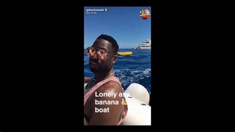 banana boat lebron wade dwyane wade finds the banana boat in his trip but there
