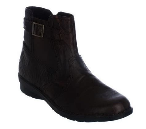 clarks bendables leather side zip ankle boots page 1