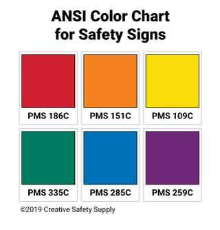 ansi color codes ansi safety colors creative safety supply