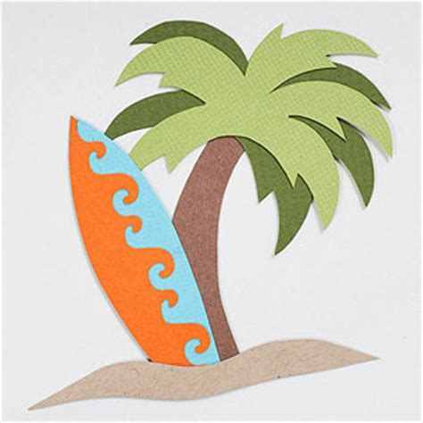 A Palm Tree Out Of Paper - scrapbooking