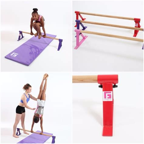 gymnastic floor bar and mat combo