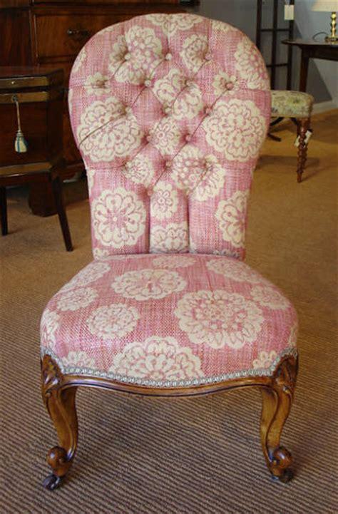 small antique walnut button  chair antique armchair