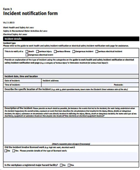 Accident Incident Report Form Qld