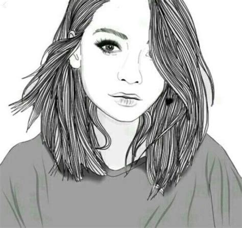 medium length hairstyle sketches drawn chick pretty hair pencil and in color drawn chick