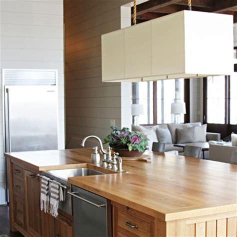 butcher block kitchen island breakfast bar home dzine kitchen choose a kitchen island style