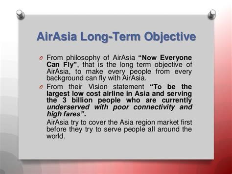airasia vision and mission strategy formulation in air asia indonesia strategic