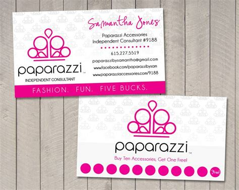 paparazzi business card template vintage sweet designs i get by with a help from