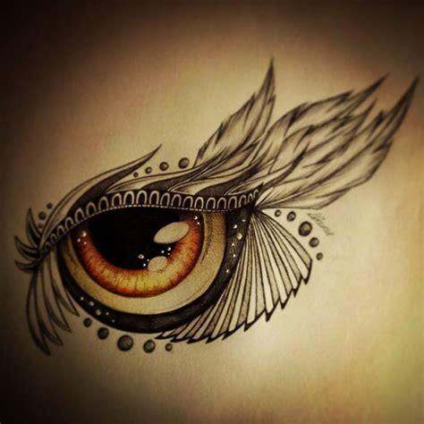 owl eyes tattoo brown eye design by slightlyannoyed cake on deviantart