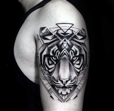 50 geometric tiger tattoo designs for men striped