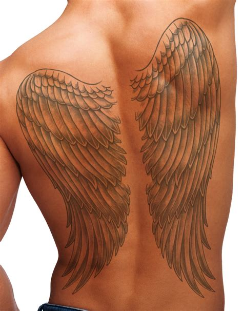 tattoo non permanent quebec temporary tattoo full back wings