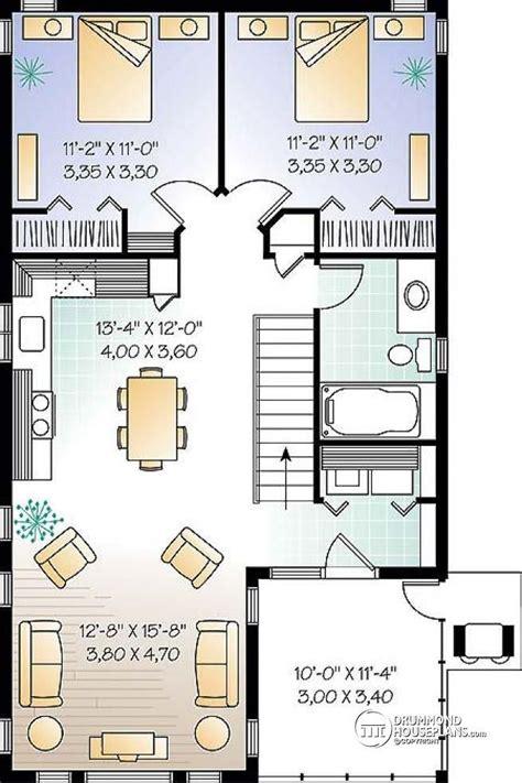 2 bedroom garage apartment floor plans w2933 garage with apartment 2 bedrooms open floor plan