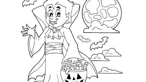imagenes halloween para pintar dibujo de halloween con personajes para colorear