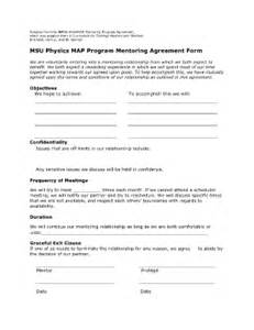 Mentoring Agreement Template mentoring agreement