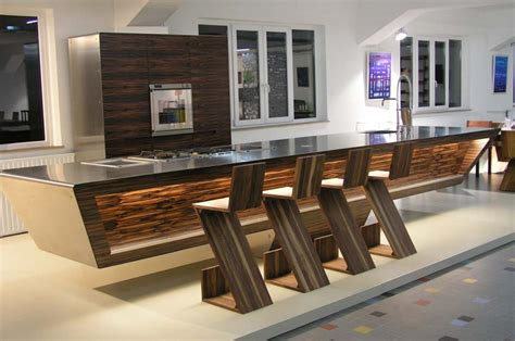 modern kitchen island design ideas kitchen wood and steel design from unikat best home news