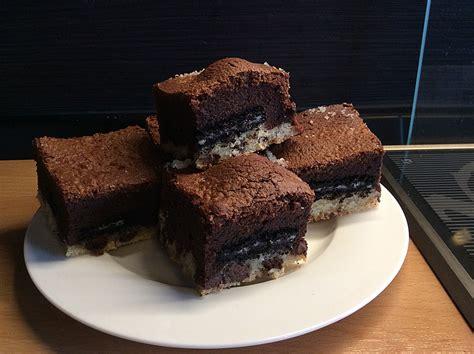 chefkoch oreo kuchen chocolate chip cookie brownie mit oreo f 252 llung rezept mit