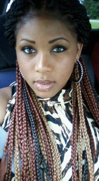 medium sangelise with braids color tips braid styles