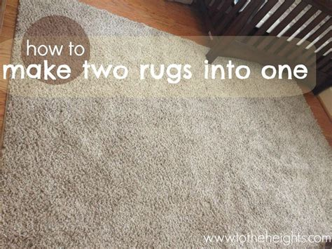 Diy Area Rug Diy Area Rug How To Make Two Rugs Into One Diy Ideas Big Rugs Tough Times And We