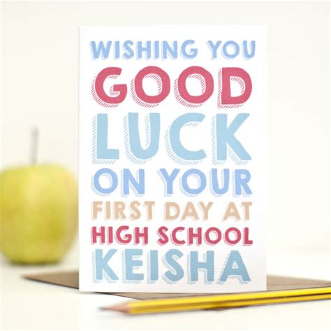 cards at school personalised day of high school card by here s to