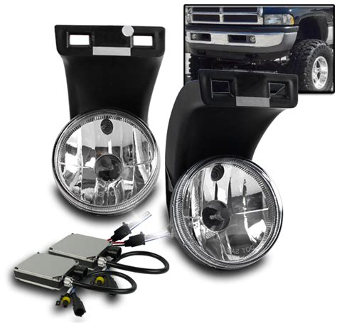 dodge ram hid fog lights 1994 2001 dodge ram 1500 2500 3500 truck pickup chrome fog