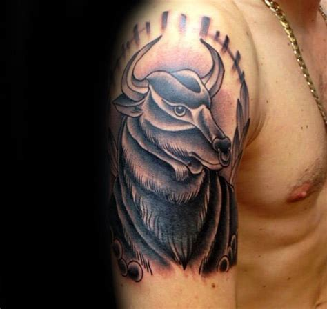 taurus tattoo designs guys 75 taurus tattoos for zodiac ink design ideas