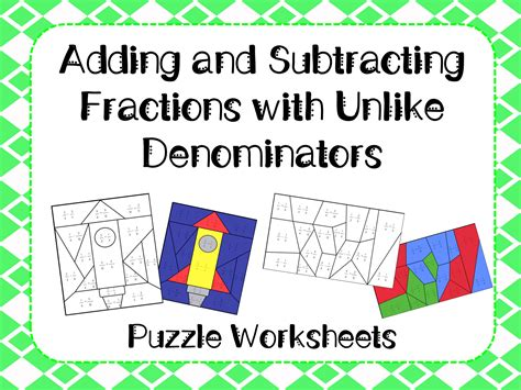 Addition And Subtraction Puzzle Worksheets Gambarsurat